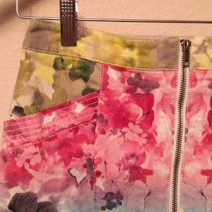 H&M Skirts - H AND M FLORAL FUN MINI SKIRT